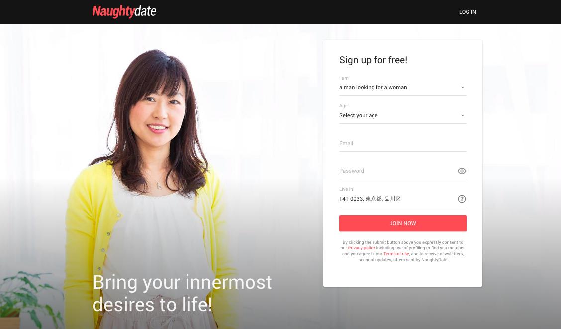 main page Naughtydate.com