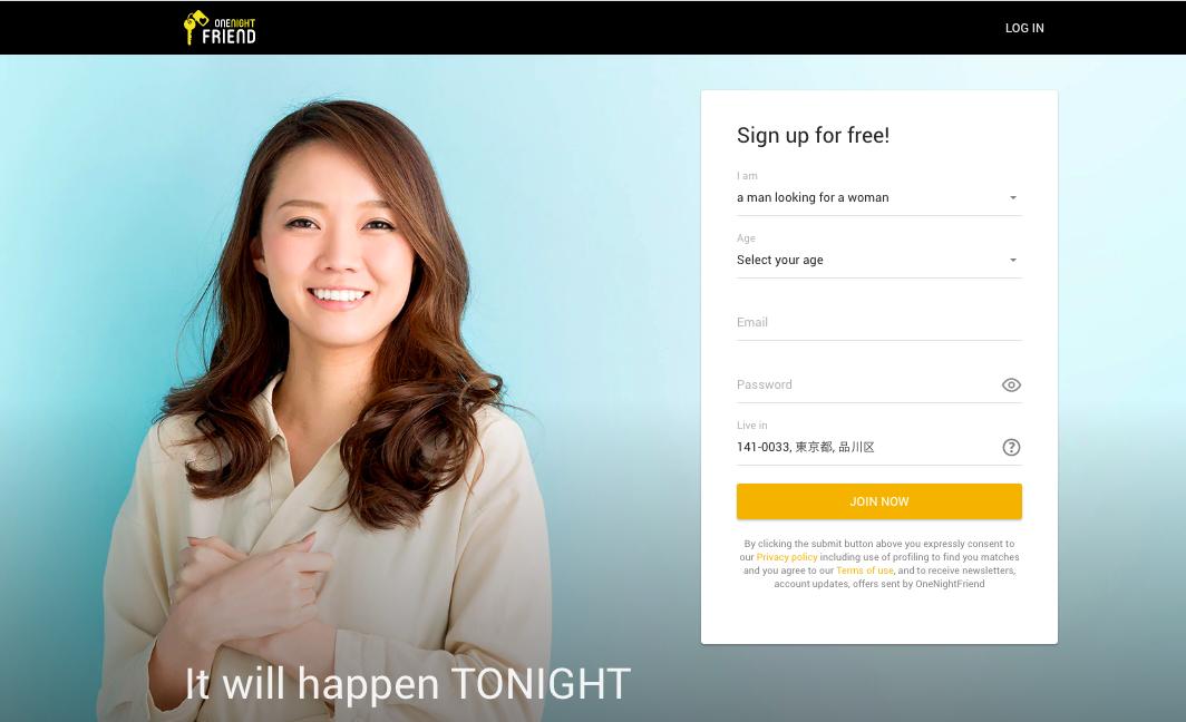 main page Onenightfriend.com
