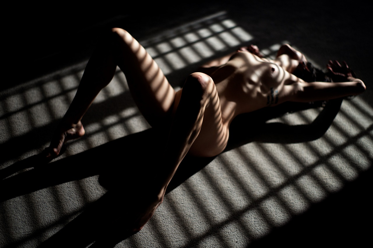naked woman in boudoir